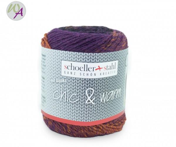 Chic & Warm Schoeller Stahl Farbe 0002 violett