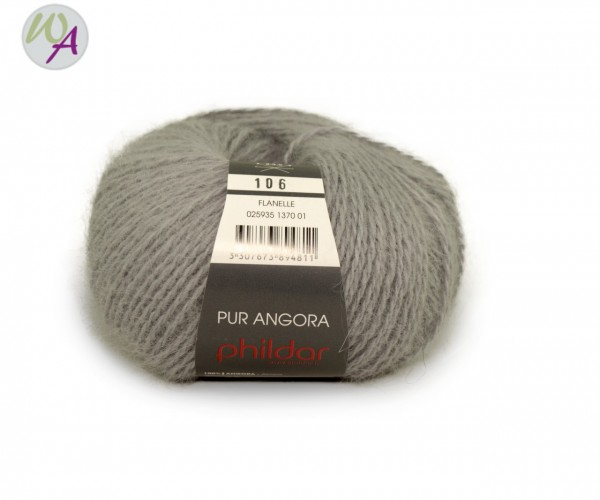 Pur Angora Phildar Wolle 1370 Flanelle