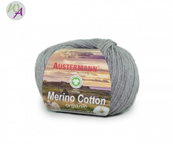 Austermann® Merino Cotton organic Farbe 17 hellgrau