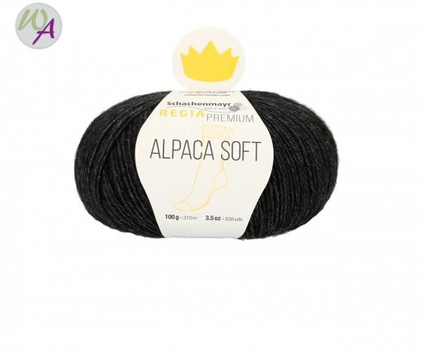 Regia Alpaca Soft Farbe 0099 schwarz meliert
