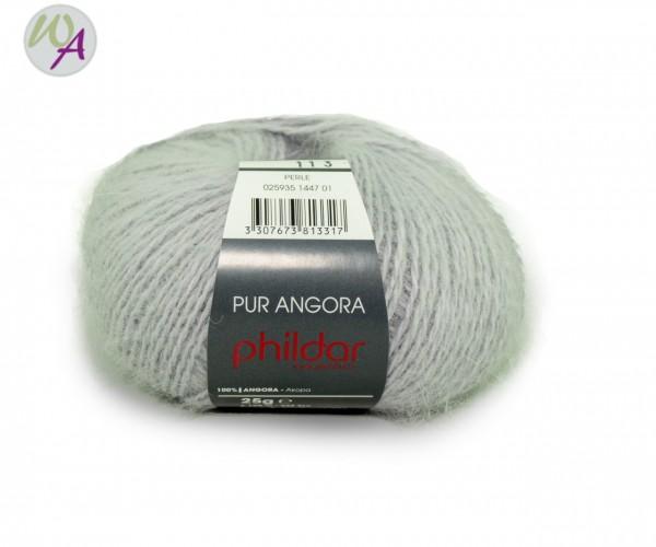 Pur Angora Phildar Wolle 1447 Perle
