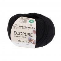 Ecopure Austermann Wolle 02 schwarz