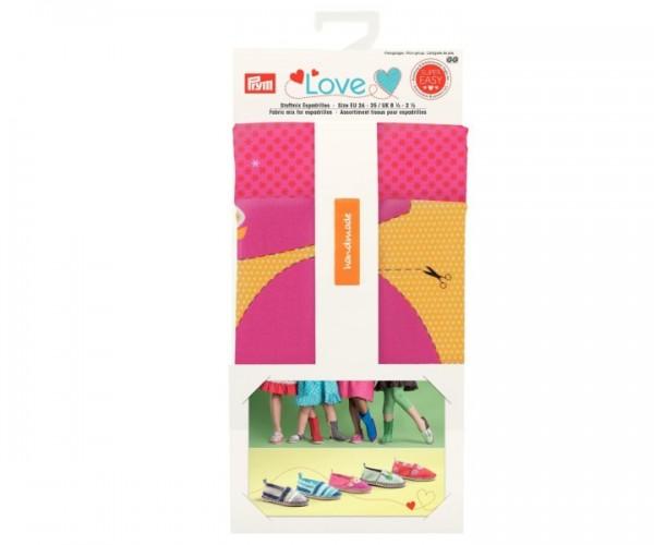 Prym Love 931721 Stoffmix Espadrilles gelb-pink
