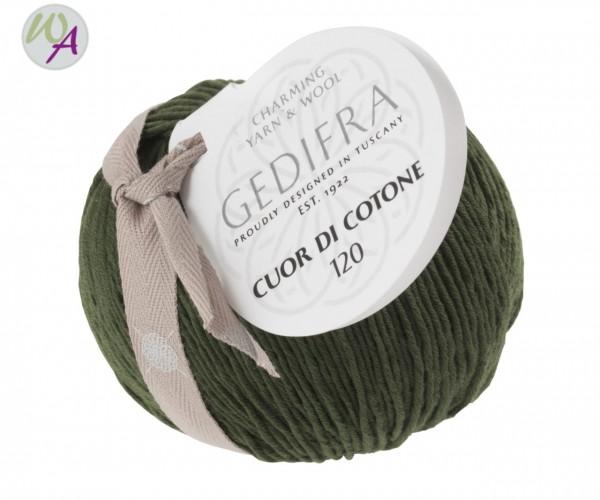 Cuor di Cotone 120  - Farbe 1061 oliv