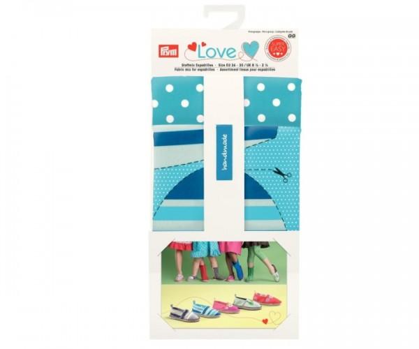 Prym Love 931722 Stoffmix Espadrilles blau