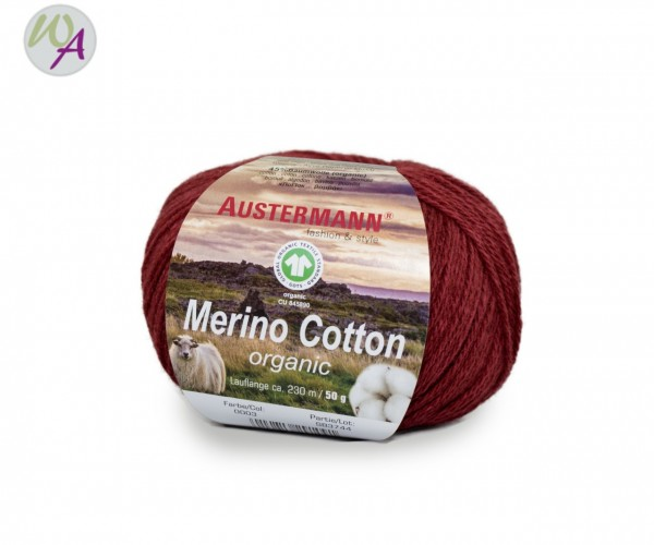 Austermann® Merino Cotton organic Farbe 03 rot
