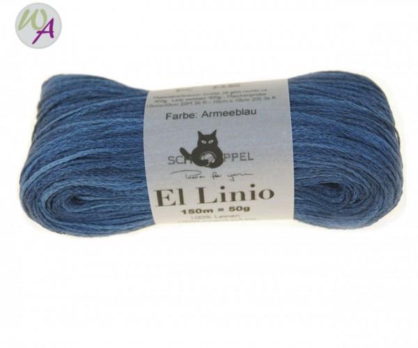 Schoppel Wolle El Linio Farbe 2274 - Armeeblau