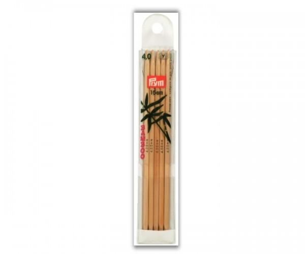 Strumpfstricknadel Bambus 15 cm Prym