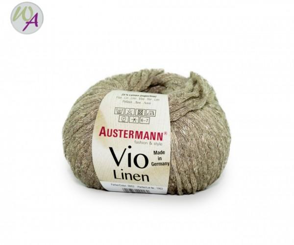 Vio Linen Austermann® Wolle 0002 leinen