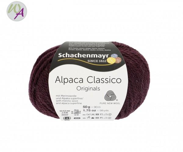 Schachenmayr Alpaca Classico Farbe 0049 aubergine