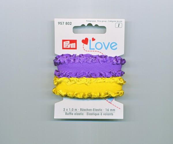 Prym Love Rüschen-Elastic 957802 lila-gelb