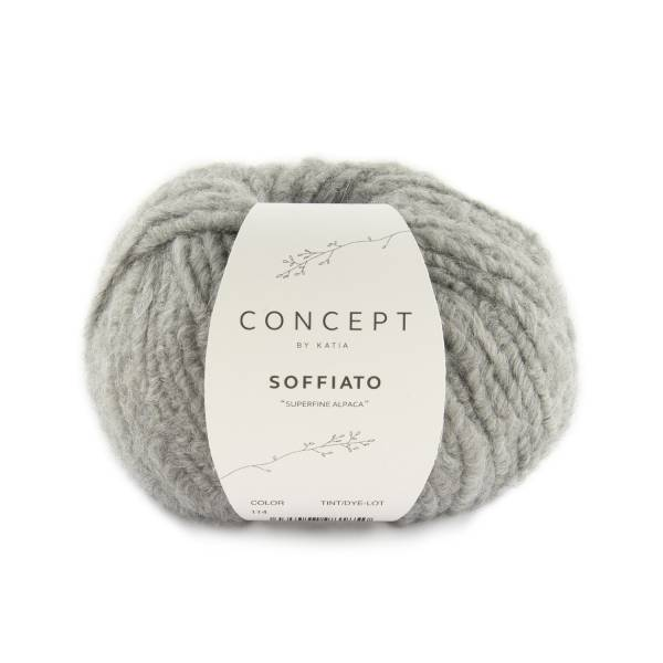 Soffiato Katia Concept Wolle Farbe 114 Hellgrau