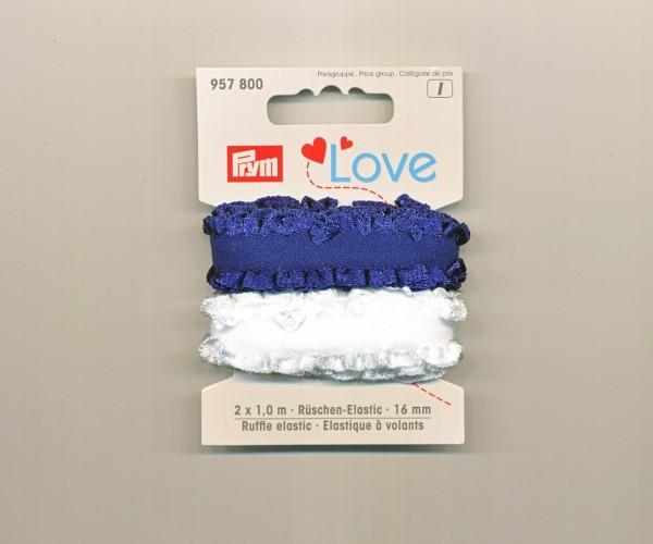 Prym Love Rüschen-Elastic 957800 blau-weiss