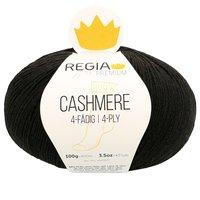 Regia Strumpfwolle Premium Cashmere in der Farbe 0099 black