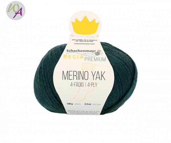 Regia Merino Yak Farbe 7514 teal meliert