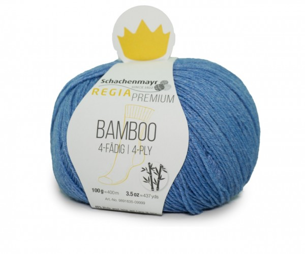 Regia Premium Bamboo Sockengarn 0055 Denim Blue Strumpfwolle Sockengarn