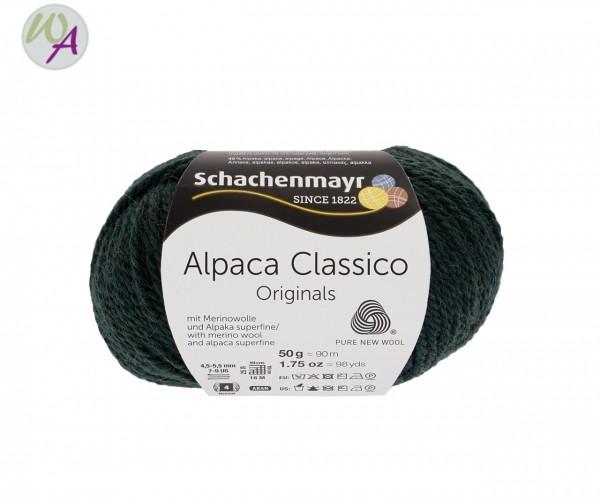 Schachenmayr Alpaca Classico Farbe 0074 tiefgrün