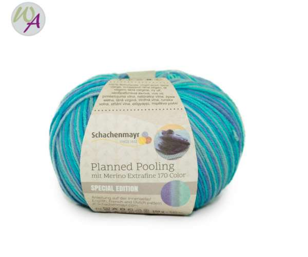 Planned Pooling Merino Extrafine 170 color lagoon stripes