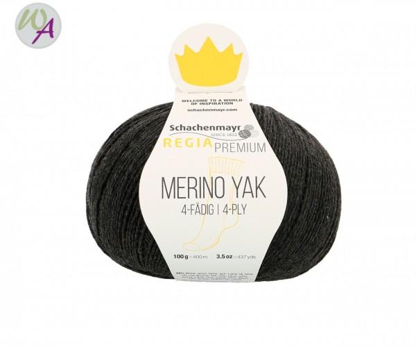 Regia Merino Yak Farbe 7512 anthrazit meliert